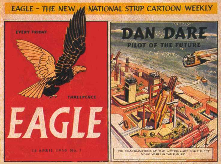DAN DARE. EAGLE FRONT PAGE DETAIL